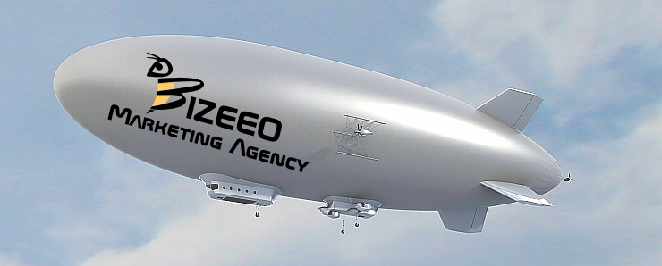 Bizeeo Logo Design on Goodyear Blimp Montgomery AL