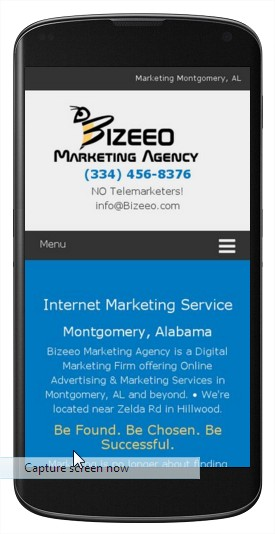 Logo on Smartphone Device - Bizeeo Marketing Agency Montgomery AL