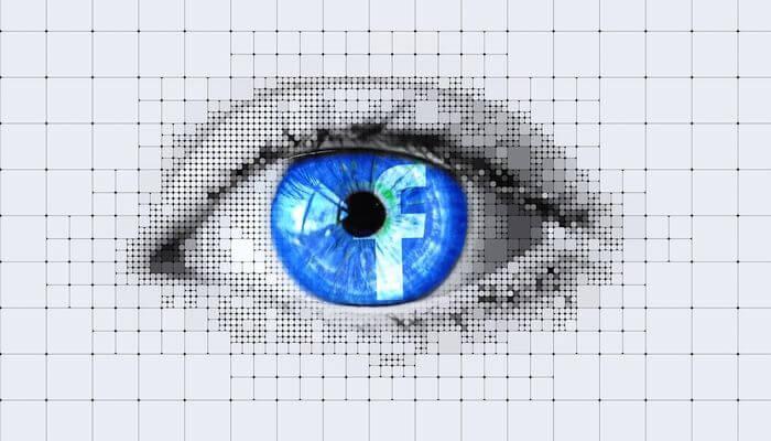 FaceBook icon inside human eye - Montgomery