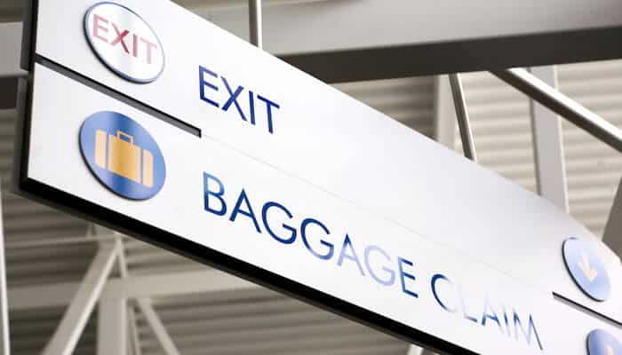 Airport Sign Baggage Claim and Exit